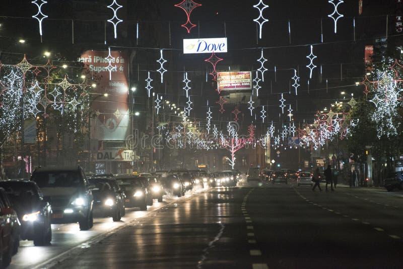 La Navidad en Bucarest (2) fotos de archivo libres de regalías