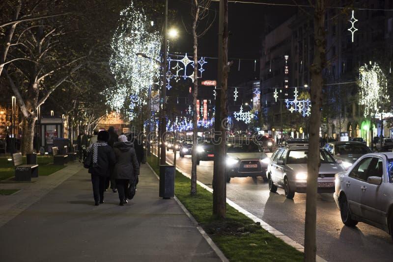 La Navidad en Bucarest (2) fotos de archivo