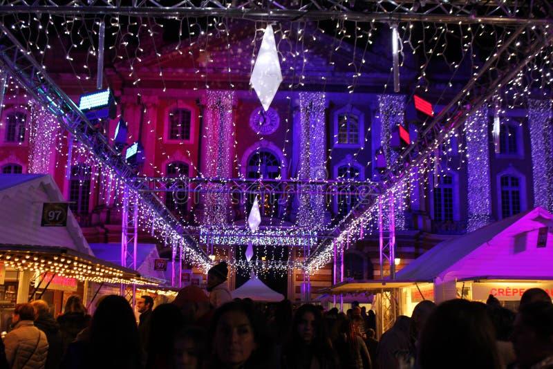 La Navidad en el capitol Toulouse imagen de archivo