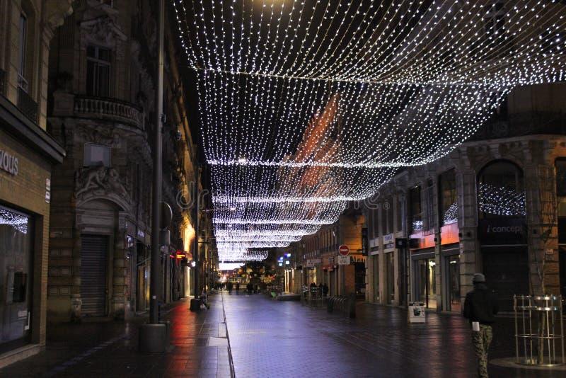 La Navidad en el capitol Toulouse foto de archivo