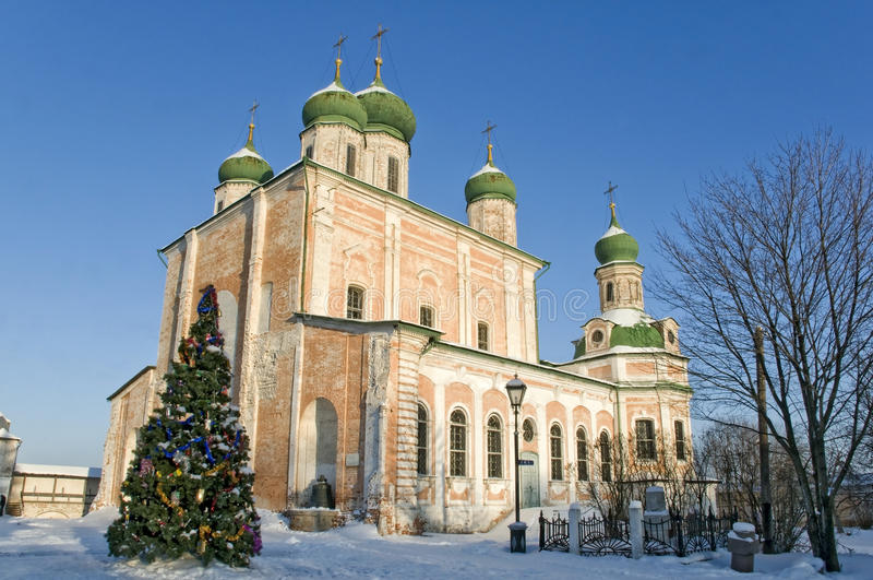 La Navidad en el monasterio ruso fotografía de archivo