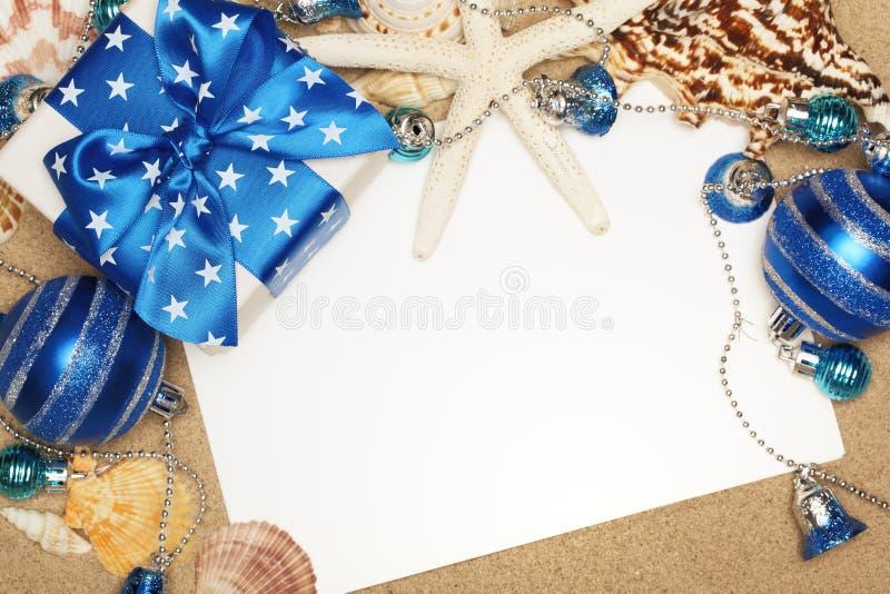 La Navidad en la playa foto de archivo libre de regalías
