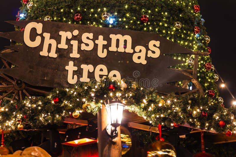 La Navidad en Londres imagenes de archivo