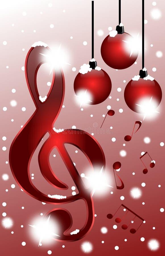 La Navidad en música ilustración del vector