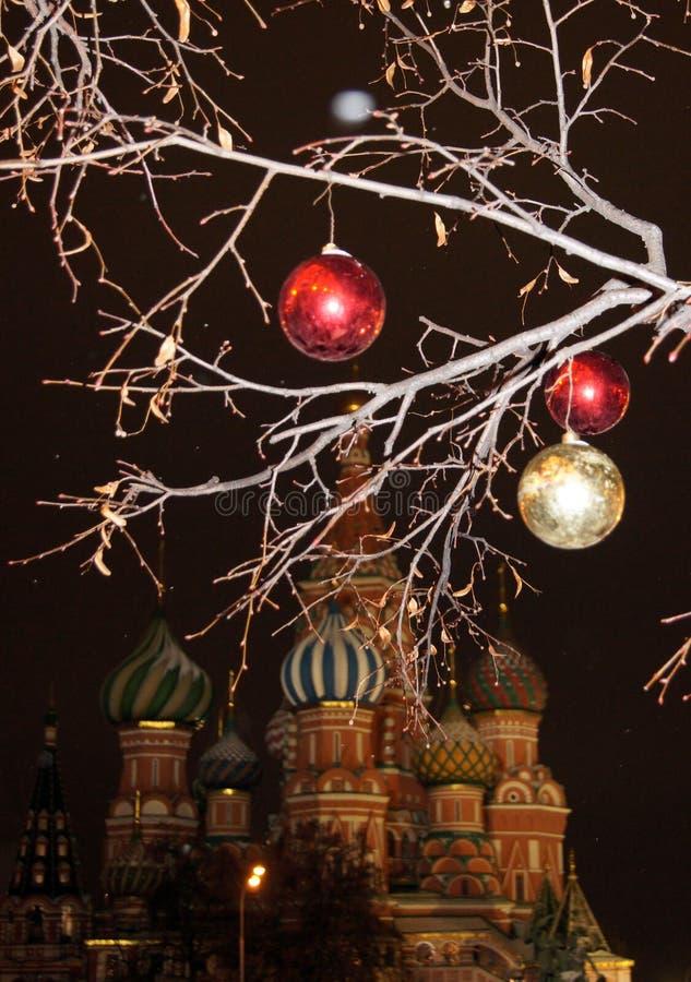La Navidad en Moscú imagen de archivo