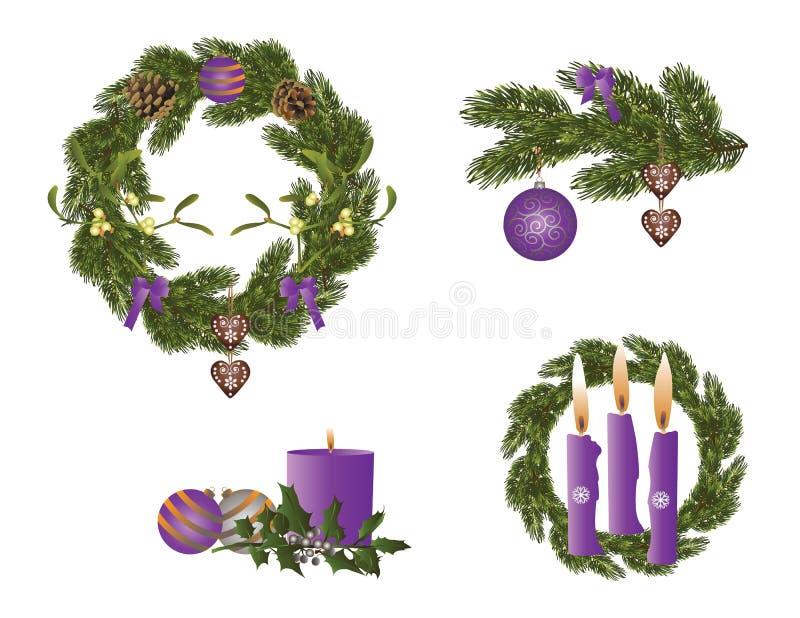 La Navidad en púrpura libre illustration