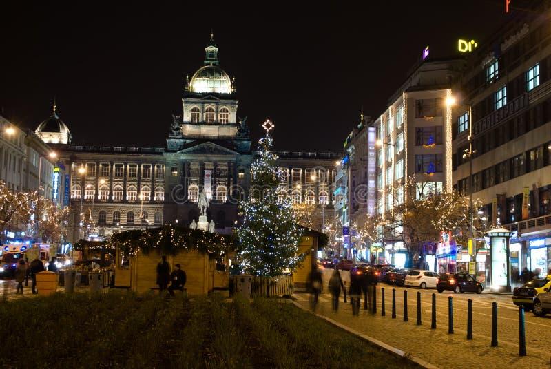 La Navidad en Praga fotografía de archivo