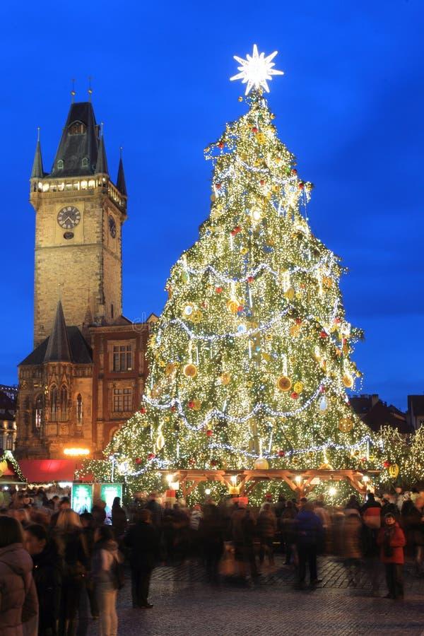La Navidad en Praga foto de archivo
