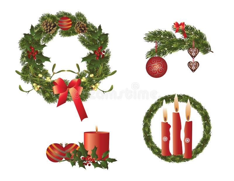 La Navidad en rojo stock de ilustración