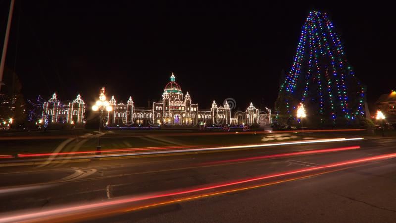La Navidad en Victoria A.C. foto de archivo libre de regalías