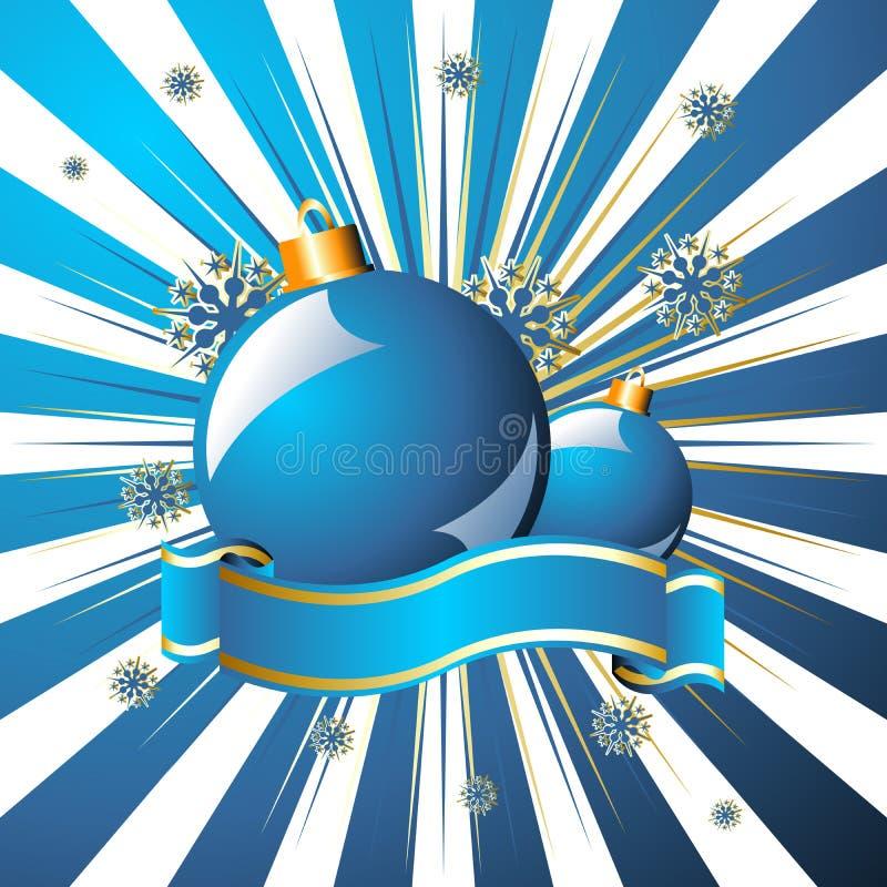 La Navidad estrellada sobre azul stock de ilustración