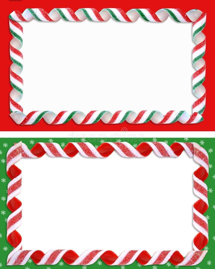 La Navidad etiqueta el espacio en blanco de las fronteras   ilustración del vector