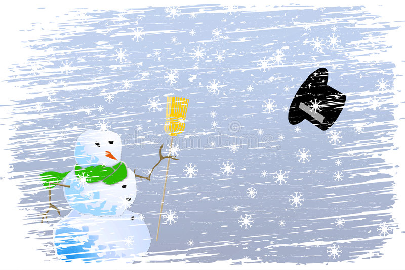La Navidad feliz de la ventisca ilustración del vector