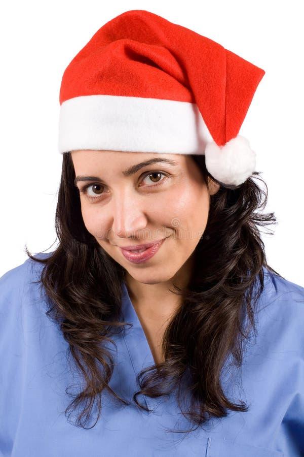 La Navidad femenina del doctor imagenes de archivo