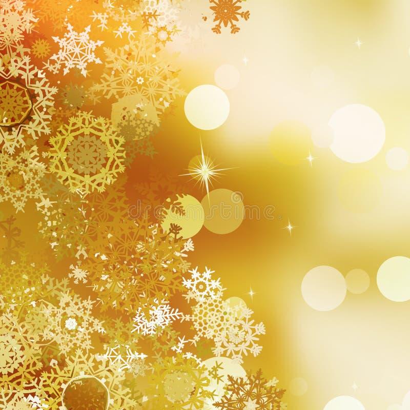 La Navidad festiva del oro con las luces del bokeh. EPS 10 libre illustration