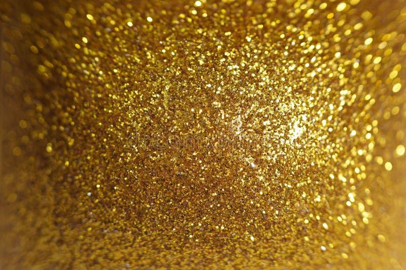 La Navidad Fondo Defocused del brillo del extracto del día de fiesta del oro Bokeh borroso imagen de archivo