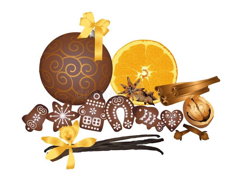 La Navidad fragante stock de ilustración