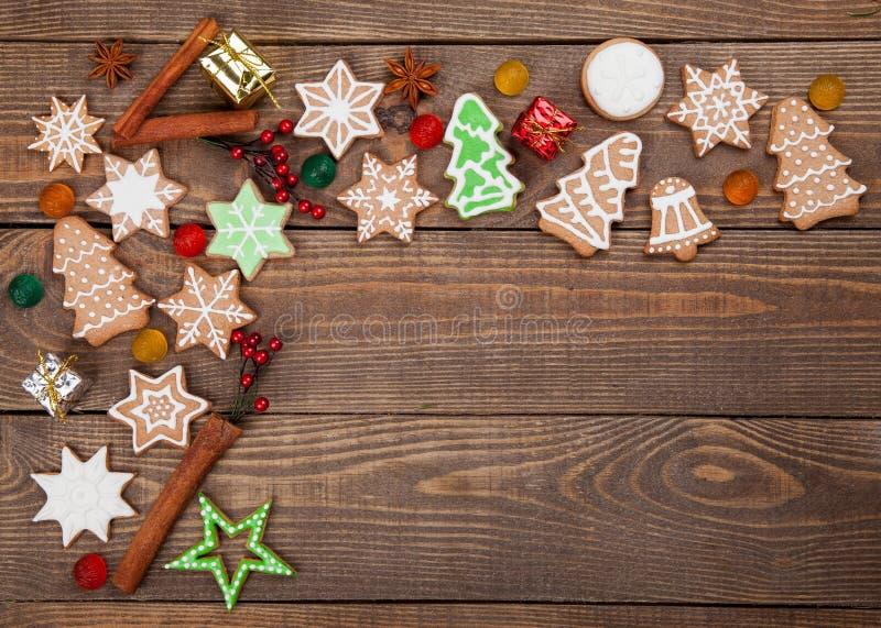 La Navidad Galletas del jengibre y de la miel imagenes de archivo