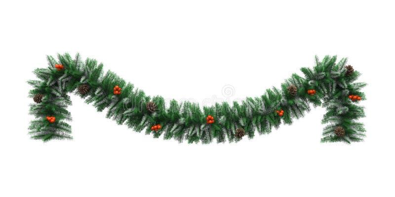 La Navidad Garland Decoration ilustración del vector