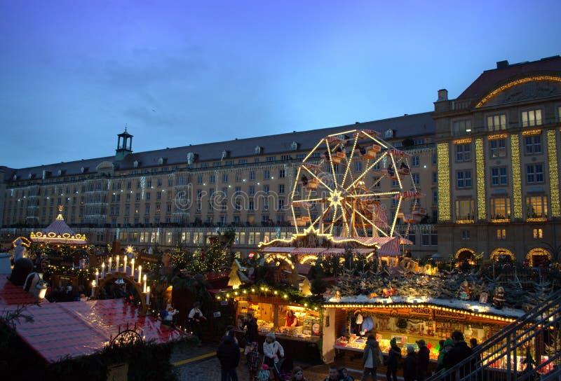La Navidad hermosa adornó Dresden fotografía de archivo libre de regalías
