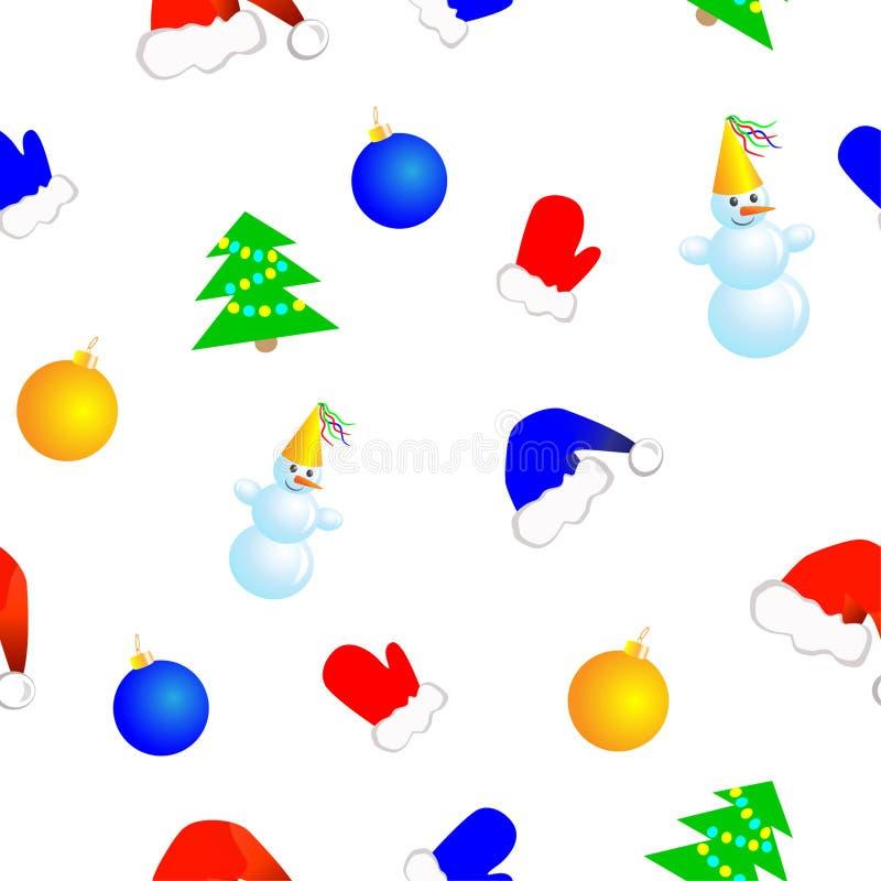 La Navidad inconsútil ilustración del vector