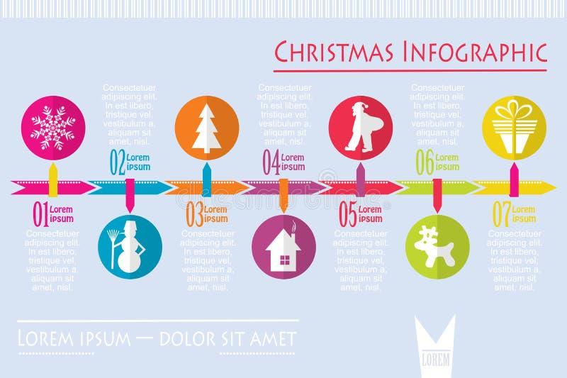 La Navidad infographic, vector stock de ilustración