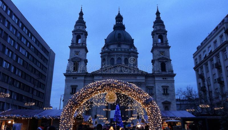 La Navidad justa en Budapest foto de archivo libre de regalías