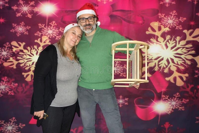 La Navidad madura de los pares imagenes de archivo