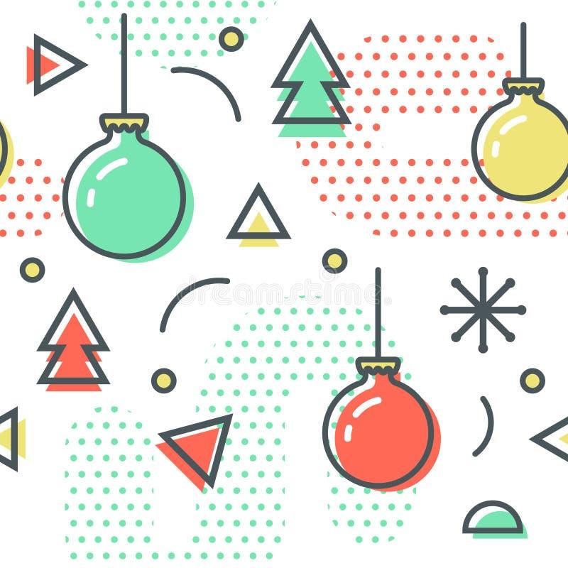 La Navidad Memphis Seamless Pattern del Año Nuevo libre illustration