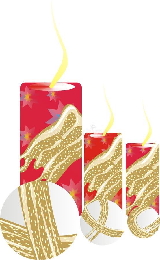 La Navidad mira al trasluz blanco rojo y el oro foto de archivo libre de regalías