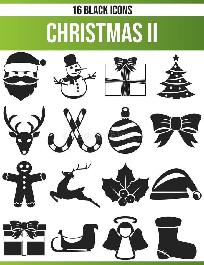 La Navidad negra II del sistema del icono ilustración del vector