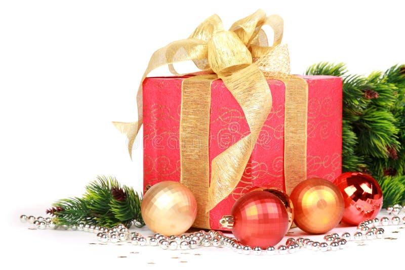 La Navidad o regalo del Año Nuevo imágenes de archivo libres de regalías
