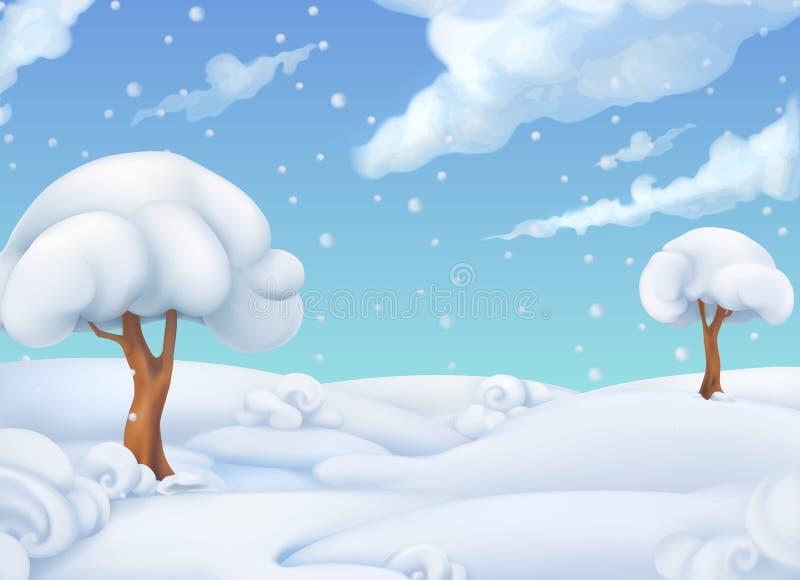 La Navidad Paisaje del invierno Ilustración del vector ilustración del vector