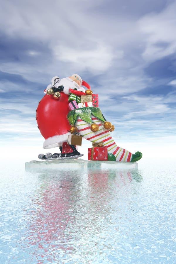 La Navidad Papá Noel imagen de archivo