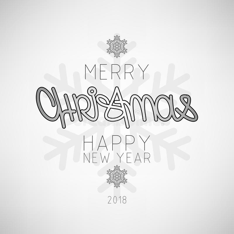 La Navidad, plantilla del diseño del cartel de las vacaciones de invierno del Año Nuevo Navidad decorativa stock de ilustración