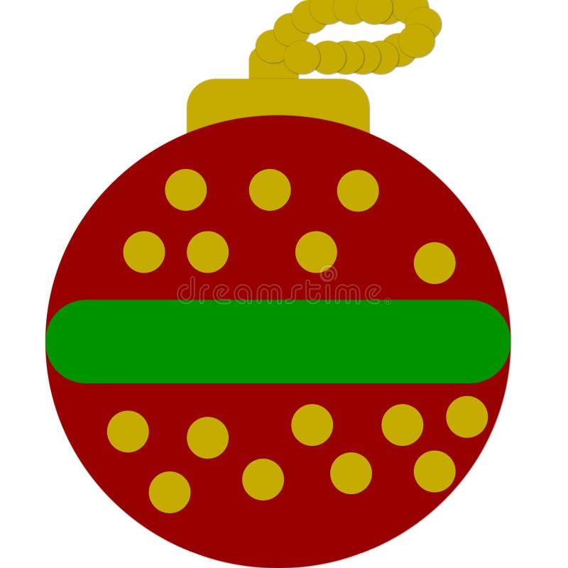 La Navidad protagoniza la bola stock de ilustración