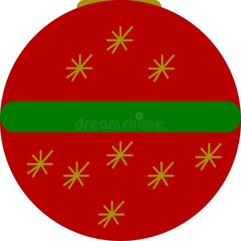 La Navidad protagoniza la bola ilustración del vector
