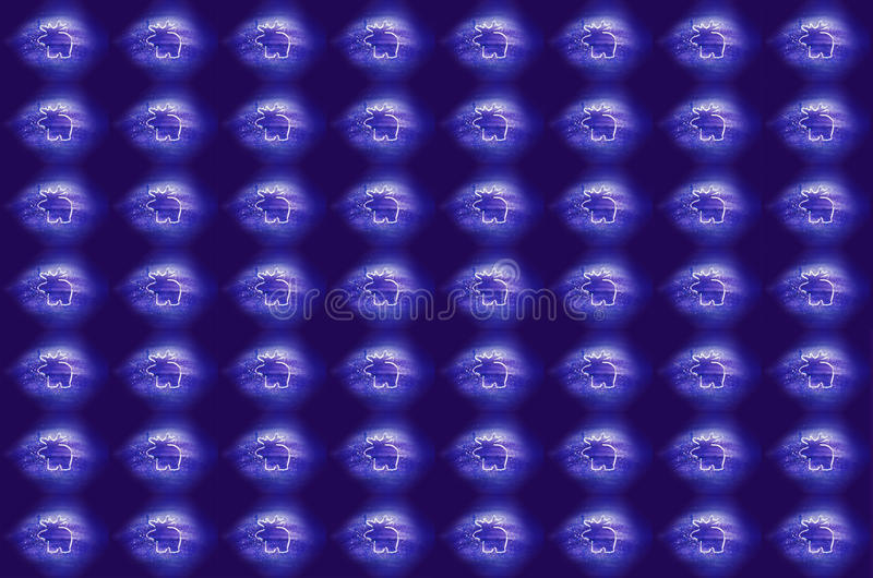 La Navidad Renos blancos en fondo azul foto de archivo libre de regalías
