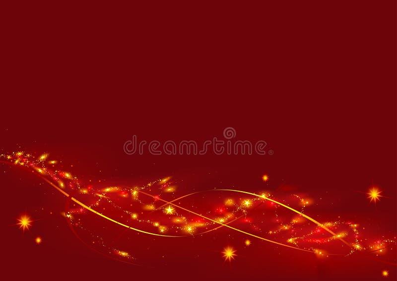 La Navidad roja con las estrellas ilustración del vector