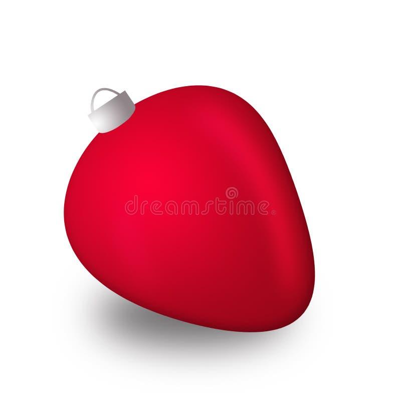 La Navidad roja juega la fresa en el fondo blanco fotografía de archivo libre de regalías