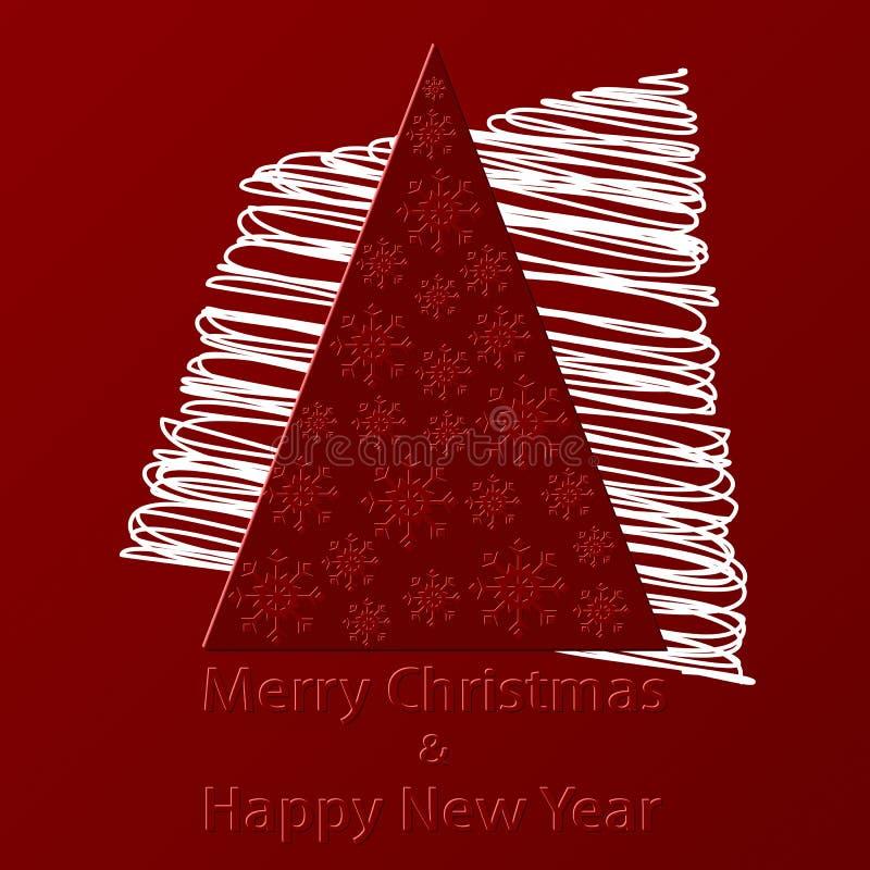 Download La Navidad Roja Y Postal Del Año Nuevo Ilustración del Vector - Ilustración de acontecimiento, abeto: 42442738