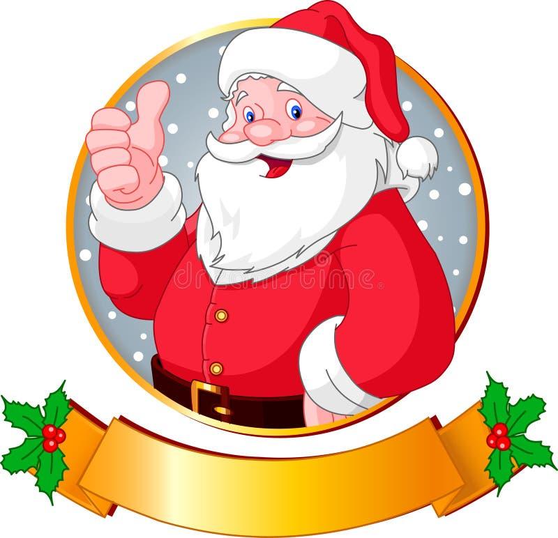 La Navidad Santa ilustración del vector