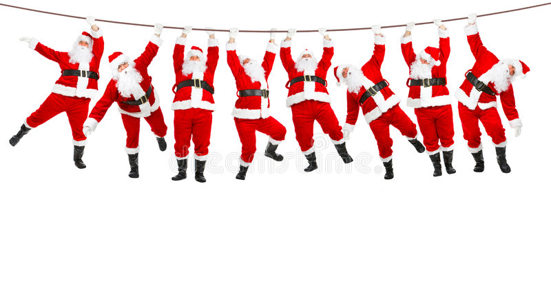 La Navidad Santa fotografía de archivo libre de regalías