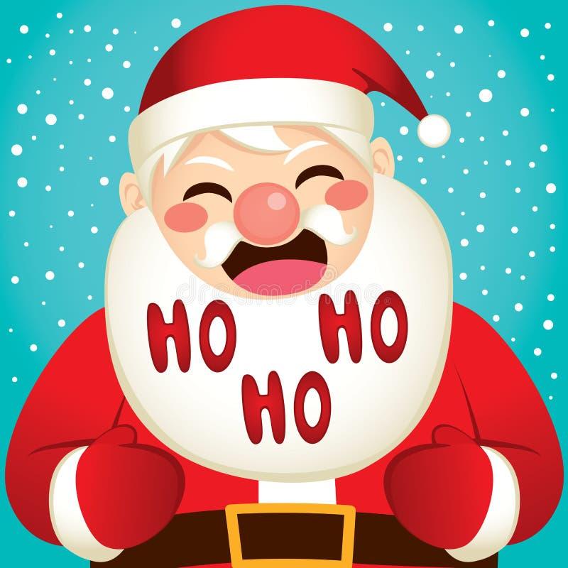 La Navidad Santa Laughing ilustración del vector