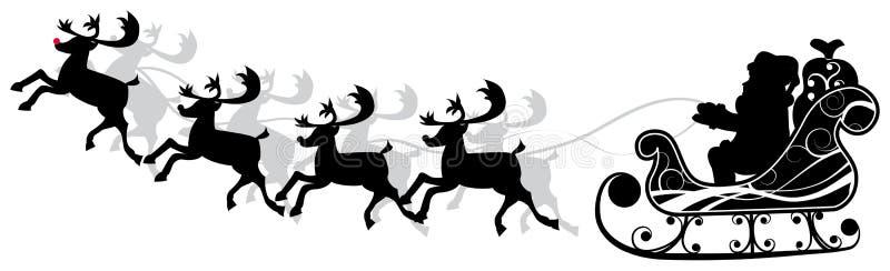 La Navidad santa y deers, vector libre illustration