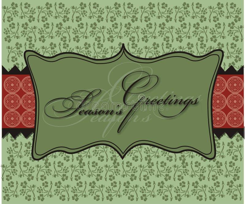 La Navidad sazona el papel pintado del fondo de los saludos ilustración del vector