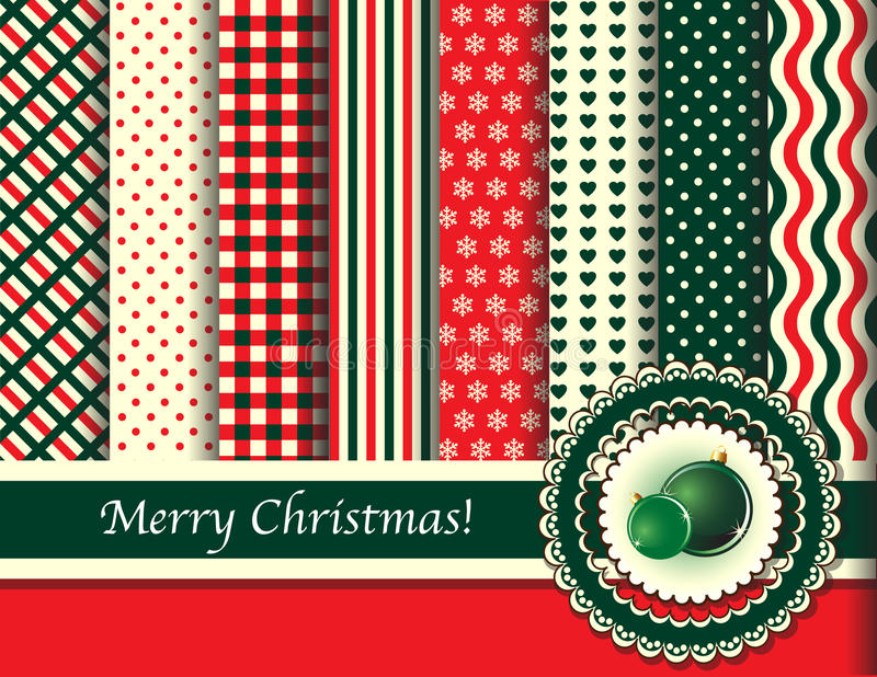La Navidad scrapbooking tonos retros libre illustration