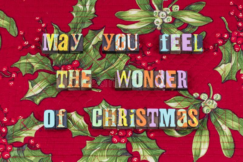 La Navidad se pregunta tipografía de la amabilidad de la caridad de la alegría fotografía de archivo libre de regalías