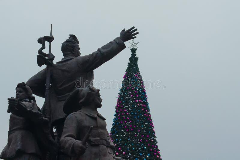 La Navidad soviética imágenes de archivo libres de regalías