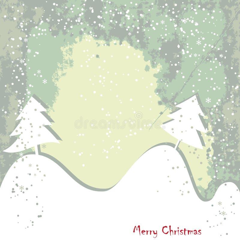 La Navidad, tarjeta grundy de saludo del Año Nuevo ilustración del vector